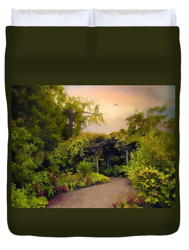 Garden Duvet Cover featuring the photograph Enchanted Arbor by Jessica Jenney