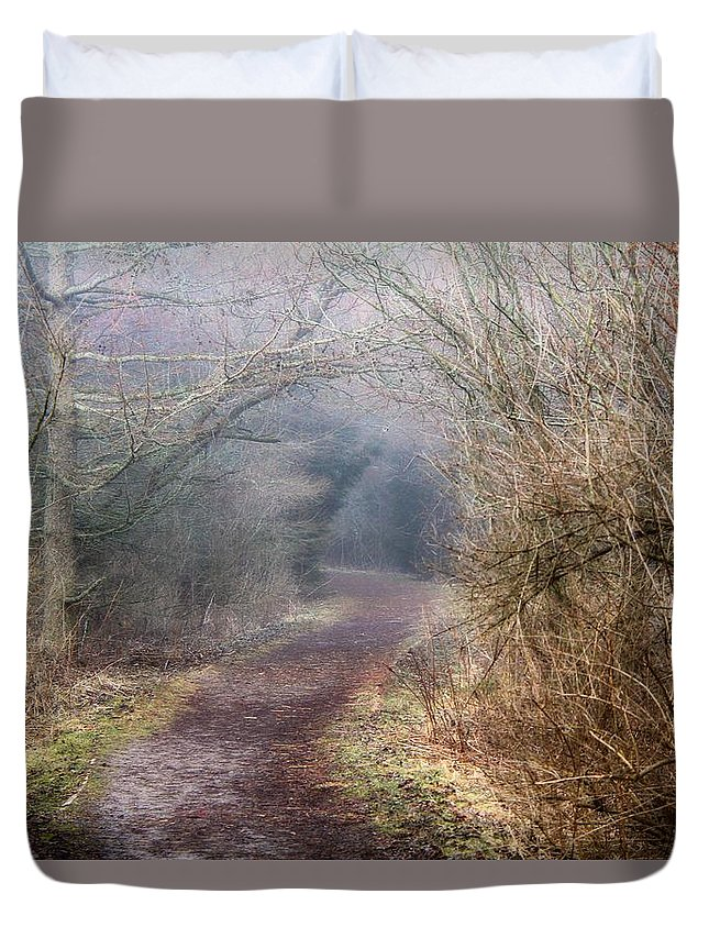 Path Duvet Cover featuring the photograph Enchanted Pathway by Davandra Cribbie