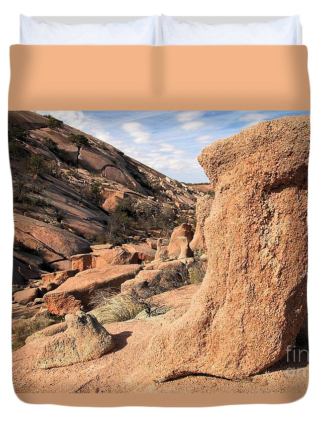 Enchanted Rock Duvet Cover featuring the photograph Enchanting Rocks by Adam Jewell