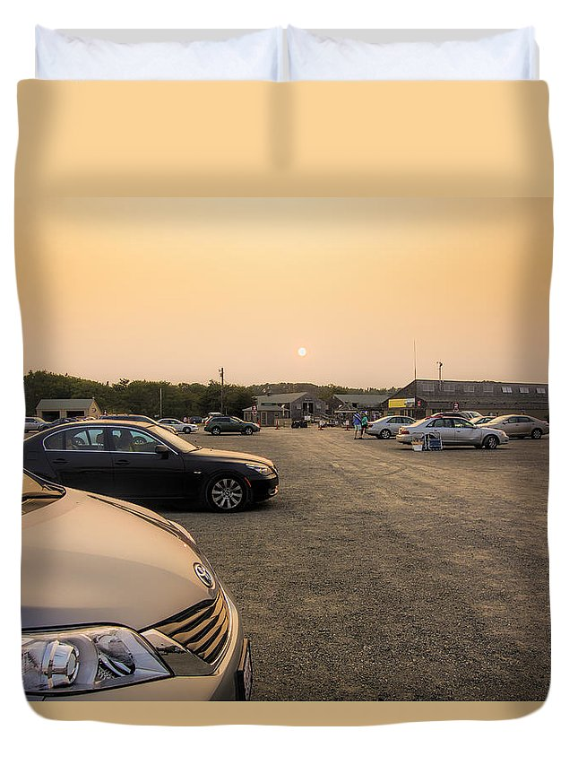 Parking Lot Duvet Cover featuring the photograph End Of A Summer Day by David Stone