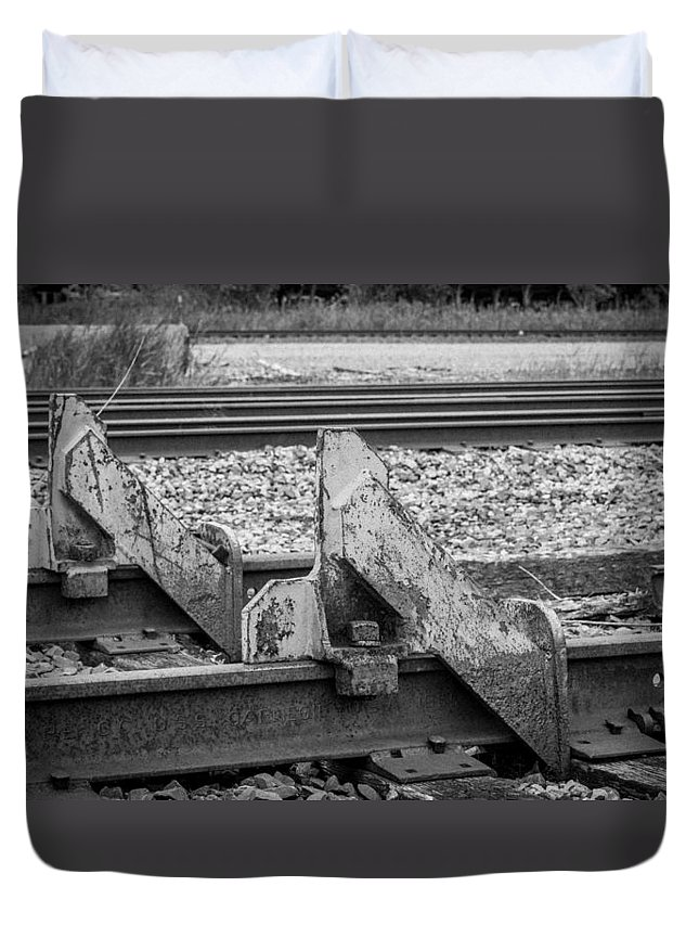 Buffalo Duvet Cover featuring the photograph End Of The Line by Guy Whiteley