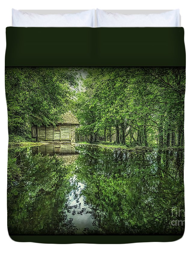 Bunratty Duvet Cover featuring the photograph Endless Shades Of Green by Evelina Kremsdorf