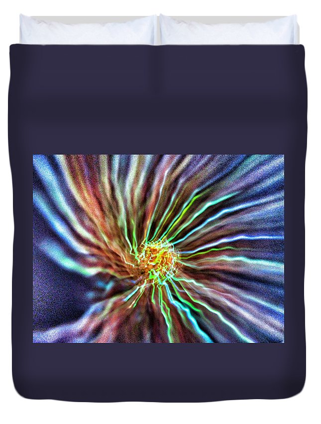 Energy Duvet Cover featuring the photograph Energy - Abstract by Marianna Mills