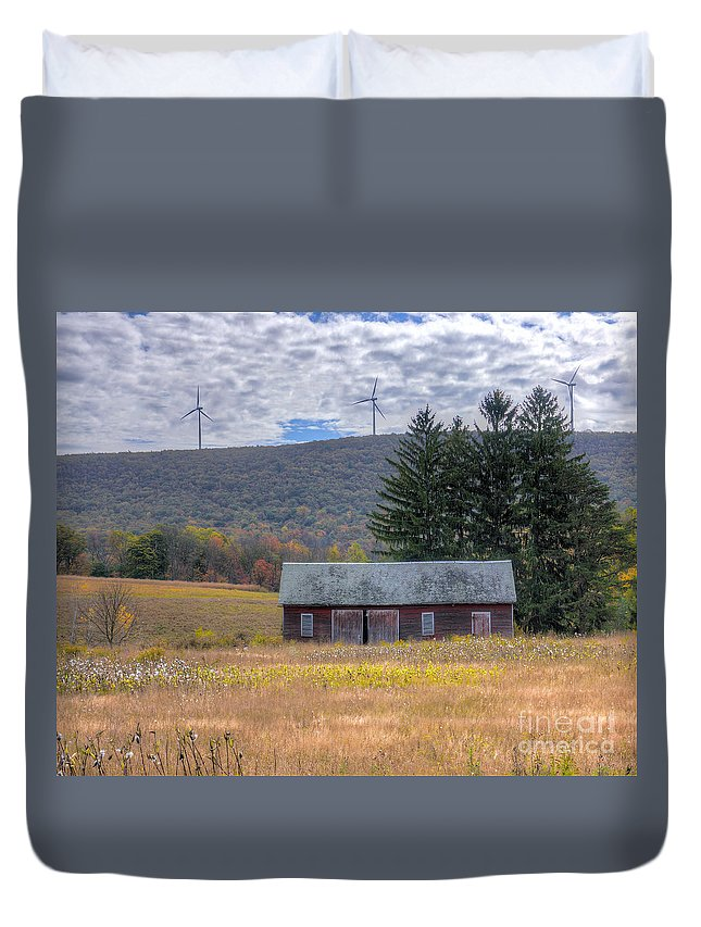 Windmill Duvet Cover featuring the photograph Energy by Rick Kuperberg Sr