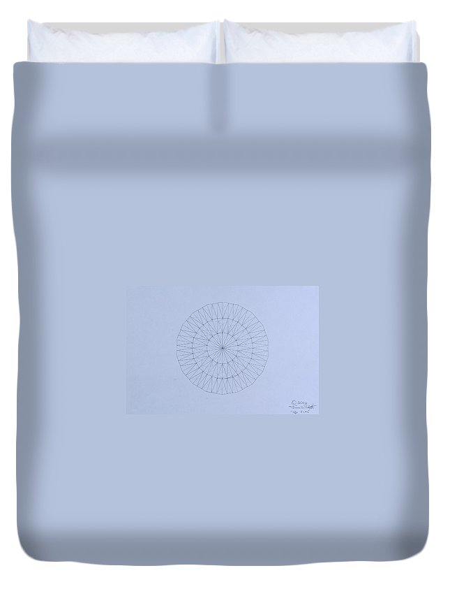 Jason Padgett Duvet Cover featuring the drawing Energy Wave 20 Degree Frequency by Jason Padgett