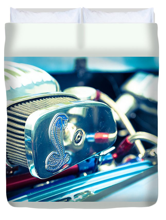 Cobra Duvet Cover featuring the photograph Engine Detail by Alexey Stiop