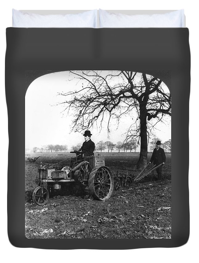 1905 Duvet Cover featuring the painting England Motor Plow, C1905 by Granger