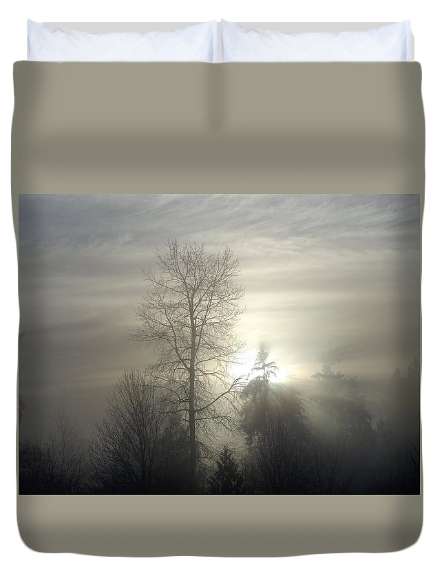 Fog Duvet Cover featuring the photograph Fog Of Enlightenment by Ian Mcadie