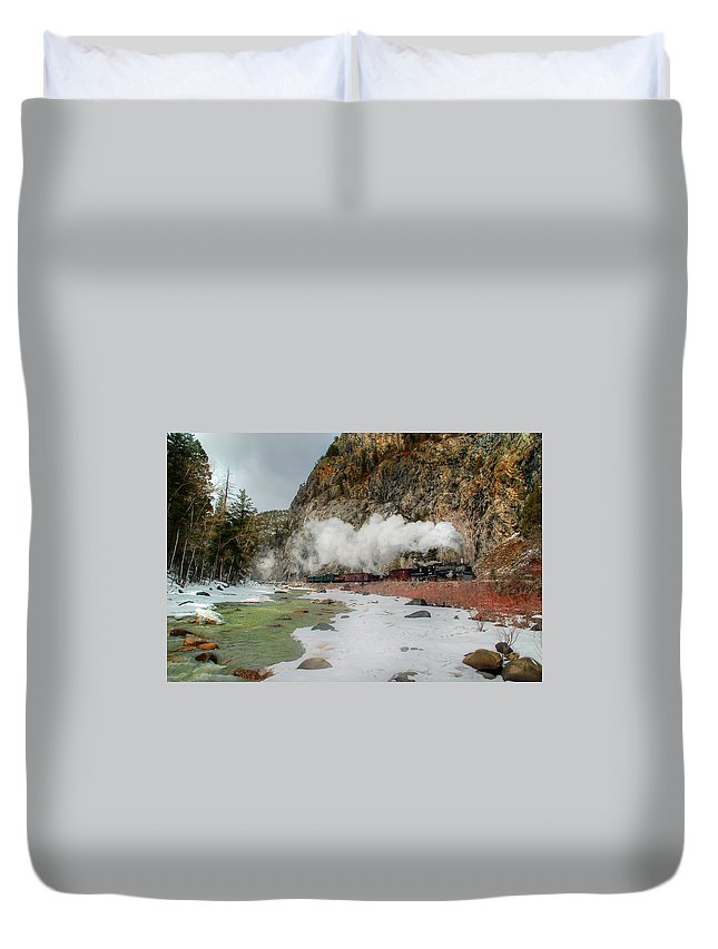 Steam Train Duvet Cover featuring the photograph Entering Cascade Canyon by Ken Smith