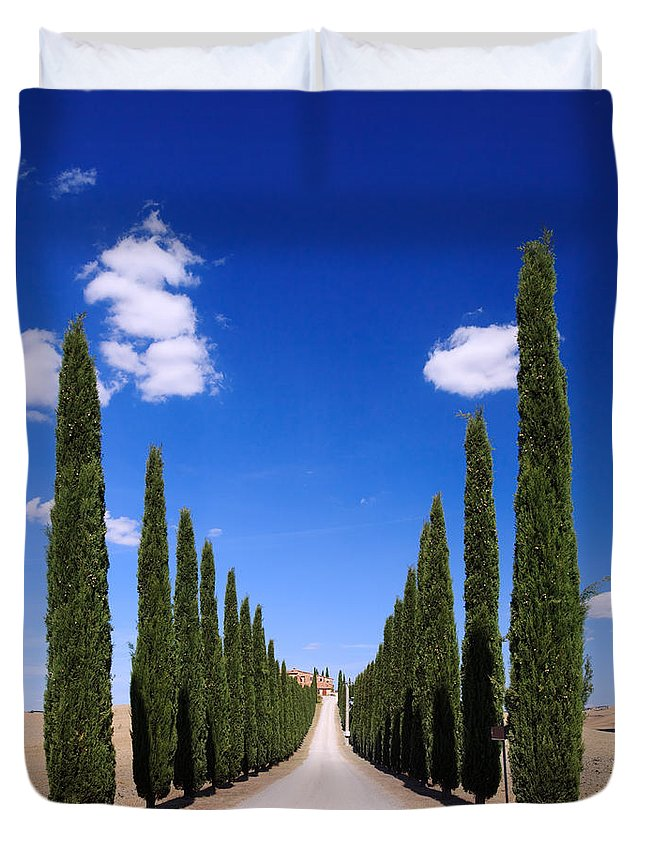 Idyllic Duvet Cover featuring the photograph Entrance To Villa Tuscany - Italy by Matteo Colombo