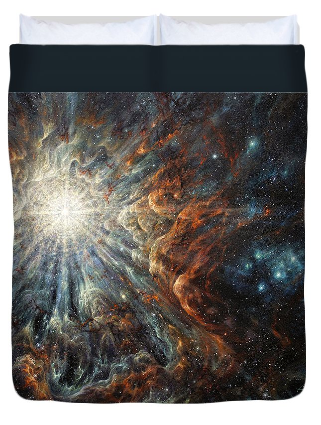 Starburst Duvet Cover featuring the painting Epiphany In Light by Lucy West