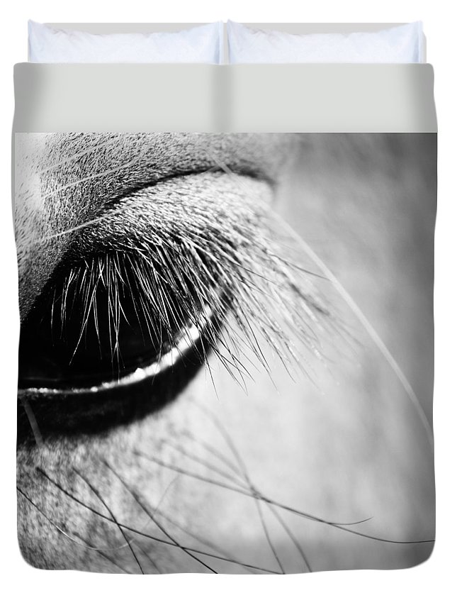 Horse Duvet Cover featuring the photograph Equine Eye by The Artist Project