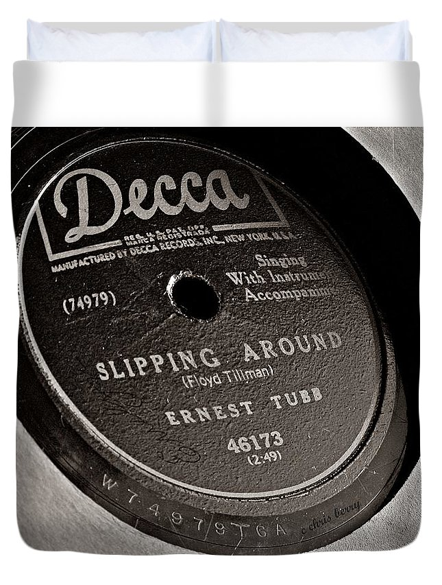 Music Duvet Cover featuring the photograph Ernest Tubb Vinyl Record by Chris Berry