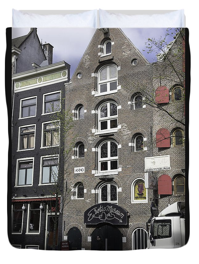 2014 Duvet Cover featuring the photograph Erotic Museum Amsterdam by Teresa Mucha