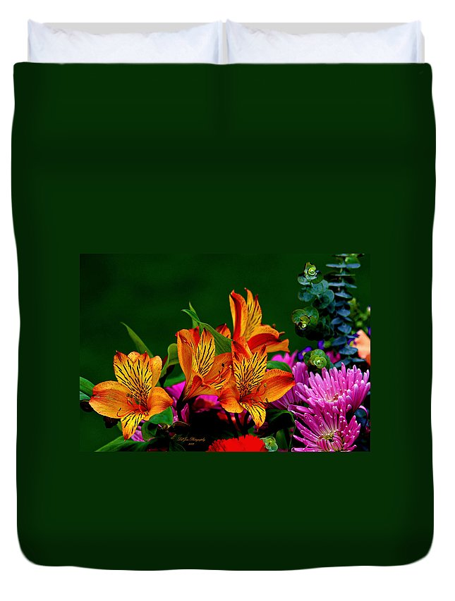 Flower Duvet Cover featuring the photograph Essence Of Joy by Jeanette C Landstrom