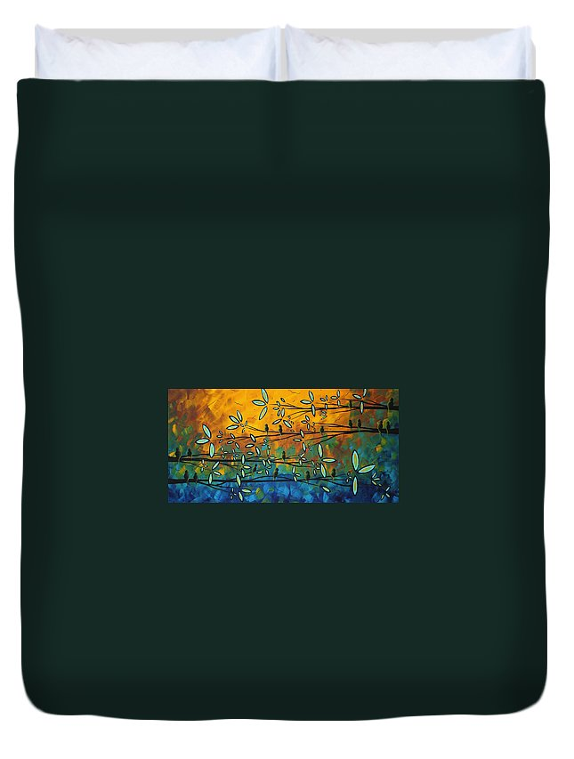 Art Duvet Cover featuring the painting Essence Of Life By Madart by Megan Duncanson