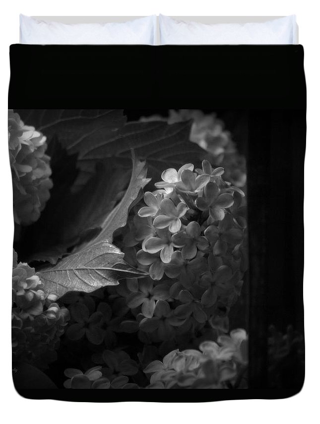 Flower Duvet Cover featuring the photograph Essence Of My Soul In Black And White by Jeanette C Landstrom