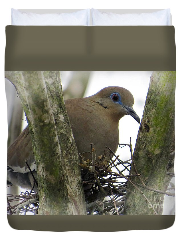 Dove Duvet Cover featuring the photograph Essence Of Nature by Ella Kaye Dickey
