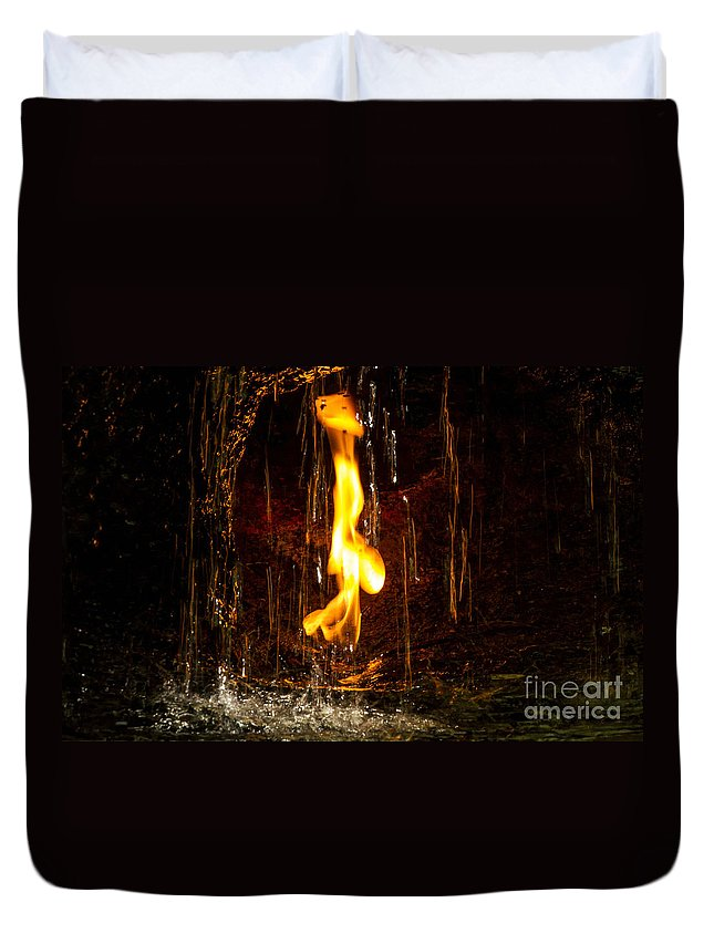 eternal Flame Duvet Cover featuring the photograph Eternal Flame by Darleen Stry