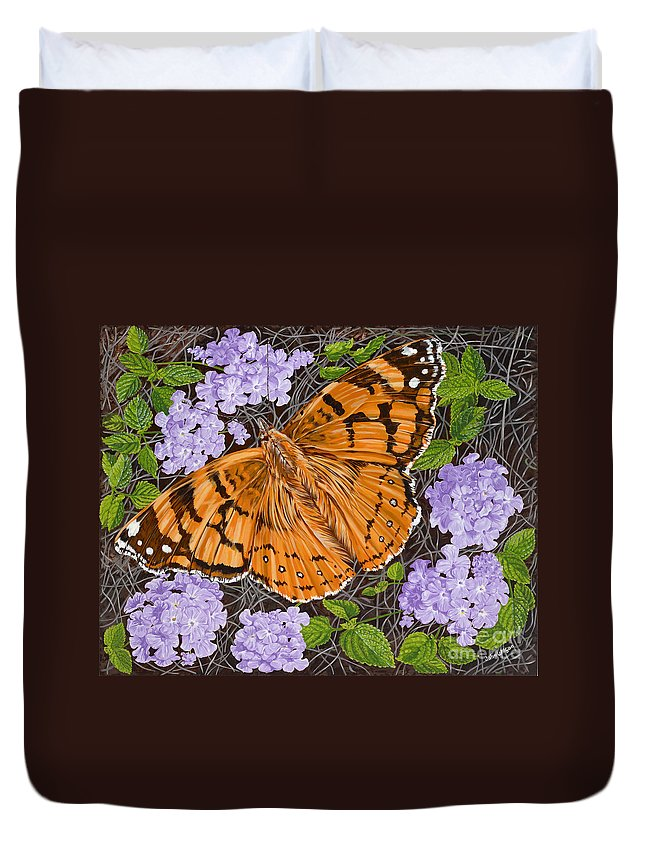 Monarch Butterfly Duvet Cover featuring the painting Ethel Mae by John Wilson