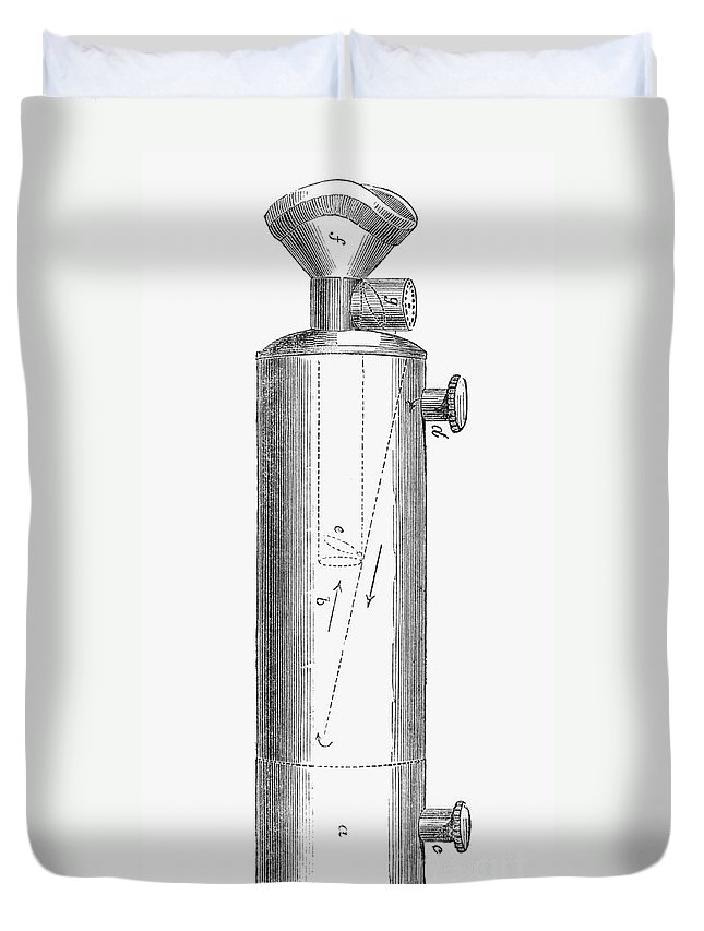 1847 Duvet Cover featuring the photograph Ether Inhaler, 1847 by Granger