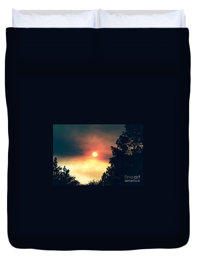 Wildfire Duvet Cover featuring the photograph Ethereal Sunset by Kerri Mortenson