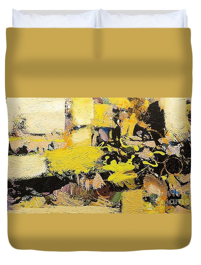 Landscape Duvet Cover featuring the painting Euclid by Allan P Friedlander