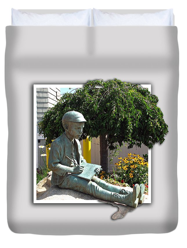 Book Duvet Cover featuring the photograph Eugene Gladstone O'neill by Barbara McDevitt