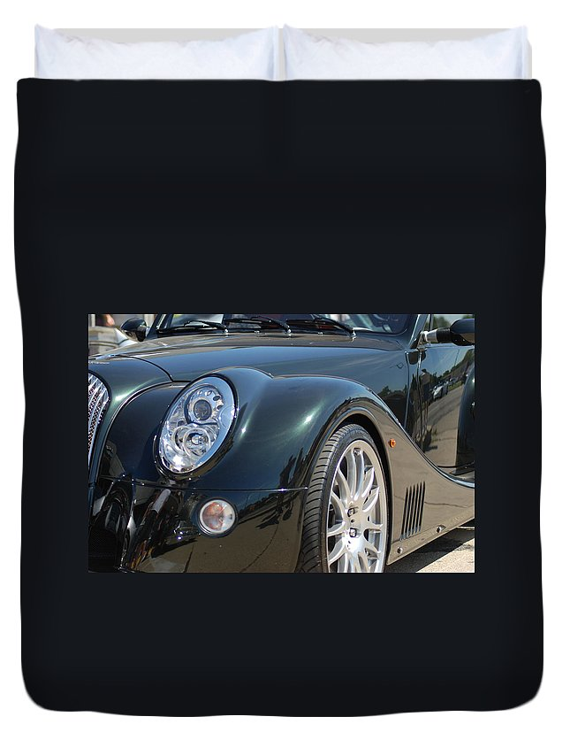 Classic Cars Duvet Cover featuring the photograph Euro Car Design by Optical Playground By MP Ray