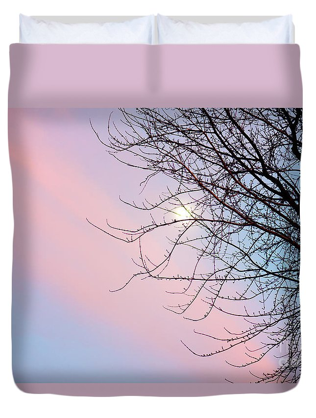 Sunset Duvet Cover featuring the photograph Evening Glow by Betty LaRue