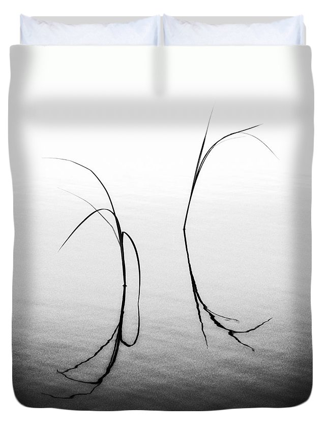 Minimalism Duvet Cover featuring the photograph Evening In July by Ari Salmela