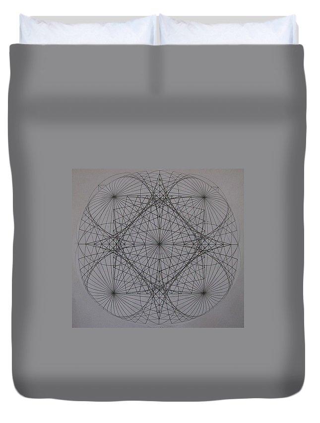 Event Horizon Duvet Cover featuring the digital art Event Horizon by Jason Padgett