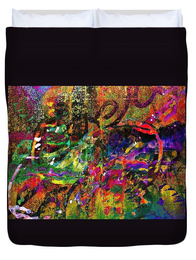 Graffiti Duvet Cover featuring the photograph Evermore Graffiti by David Pantuso