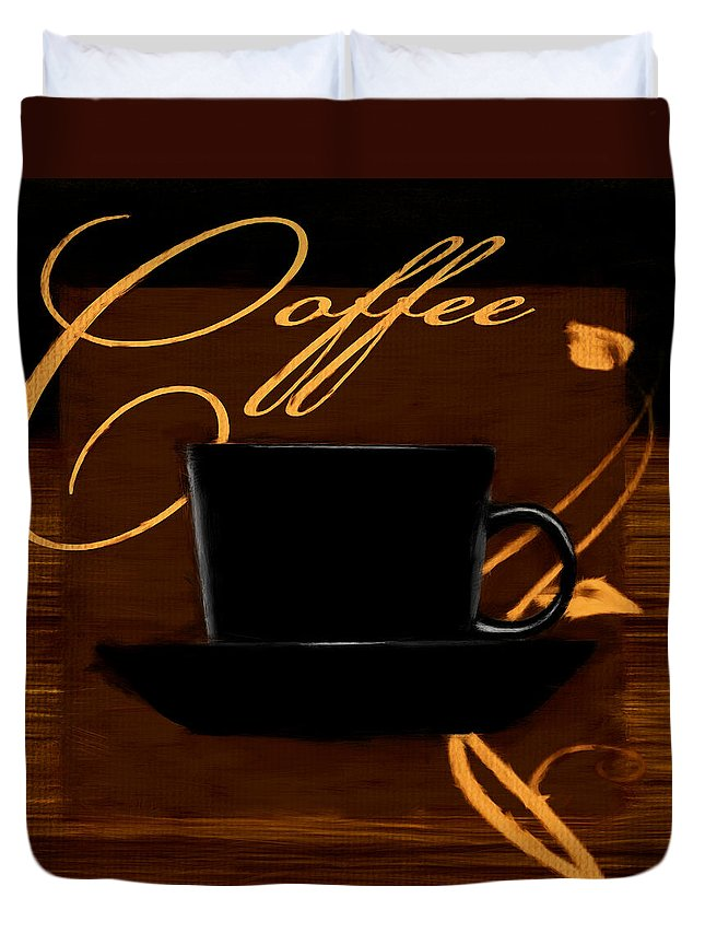 Coffee Duvet Cover featuring the digital art Every Cup Matters by Lourry Legarde