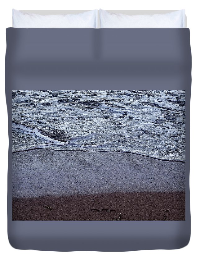 Ocean Duvet Cover featuring the photograph Every Grain Of Sand by Ian MacDonald