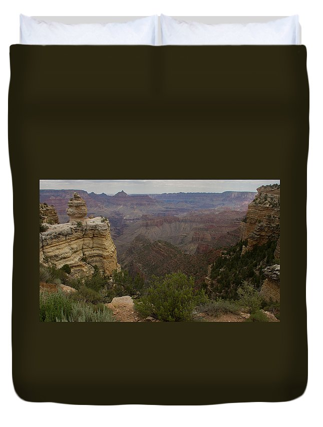 Grand Canyon Duvet Cover featuring the photograph Evolution Of Nature At The Grand Canyon by Kathleen Odenthal