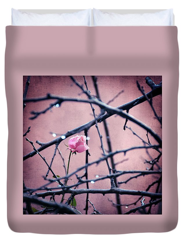 Rose Duvet Cover featuring the photograph Existence by Zapista