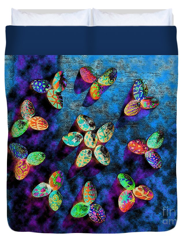 Diane Dimarco Art Duvet Cover featuring the photograph Exotic Shells 1 by Diane DiMarco