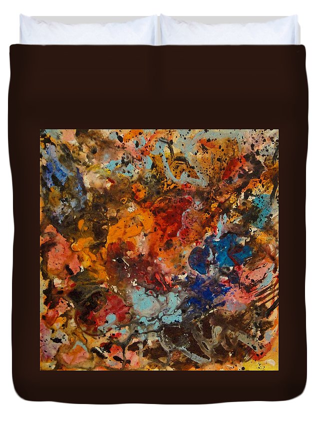 Expressionism Duvet Cover featuring the painting Explosive Chaos by Natalie Holland