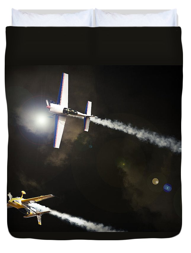 Extra 300 Duvet Cover featuring the photograph Extra Light by Paul Job