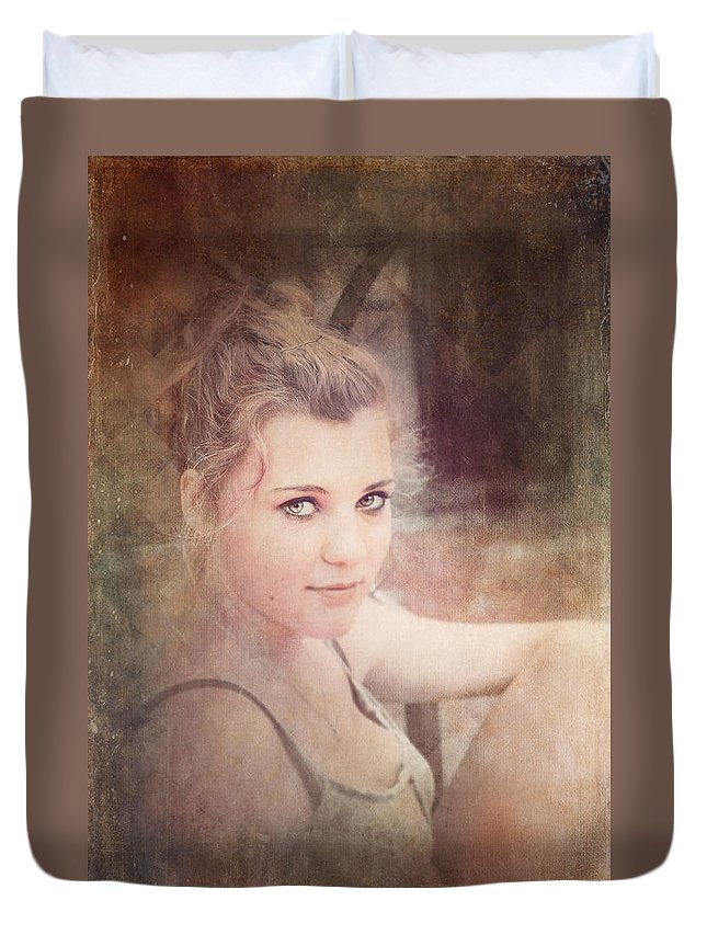Loriental Duvet Cover featuring the photograph Eye Contact #01 by Loriental Photography