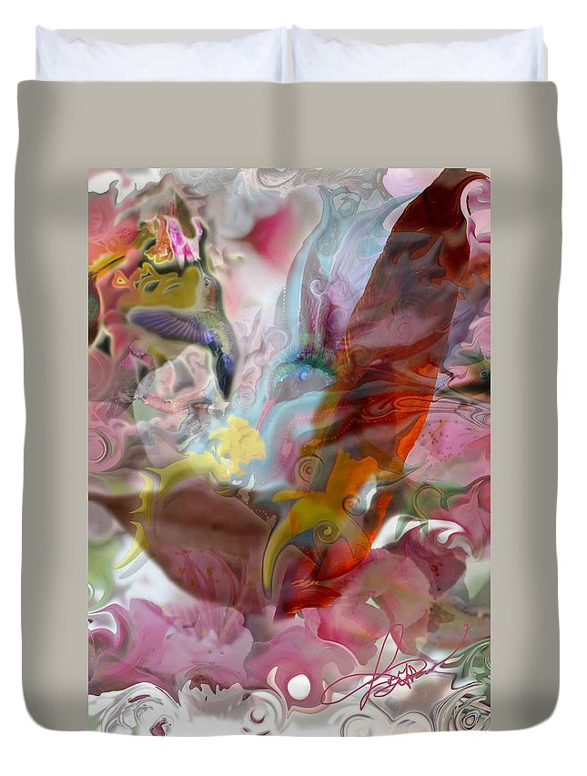 Eyes Duvet Cover featuring the photograph Eye Of Joy by Deprise Brescia