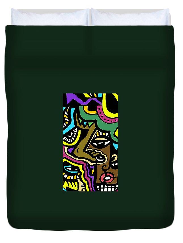 Eyeart Duvet Cover featuring the digital art Eye Run This by Kamoni Khem
