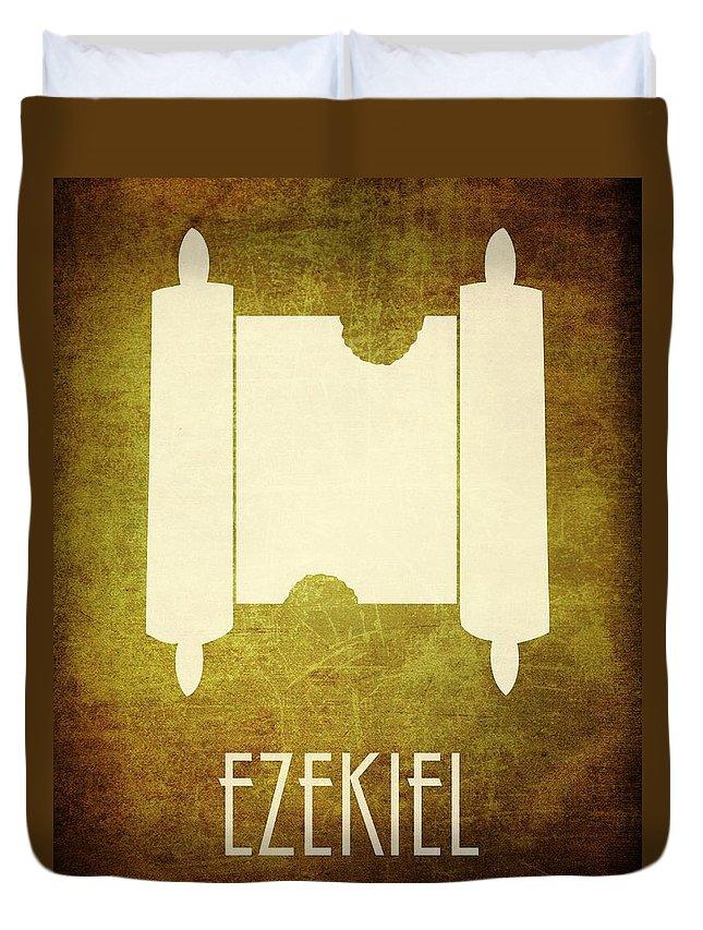 Bible Duvet Cover featuring the digital art Ezekiel by Brett Pfister