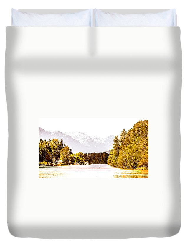 Digtial Colour Duvet Cover featuring the photograph F00445-10jpg by David Fabian
