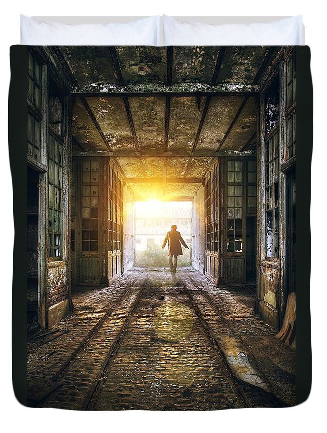 Industrial Photographs Duvet Covers