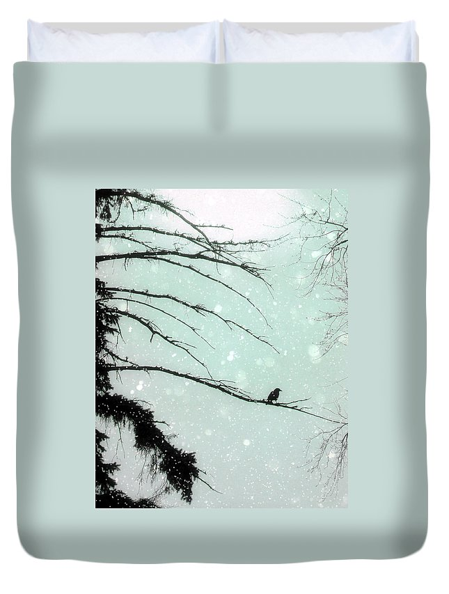 Winter Duvet Cover featuring the photograph Abstract Faded Winter by Gothicrow Images