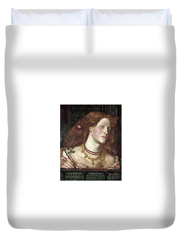 Dante Duvet Cover featuring the painting Fair Rosamund by Philip Ralley