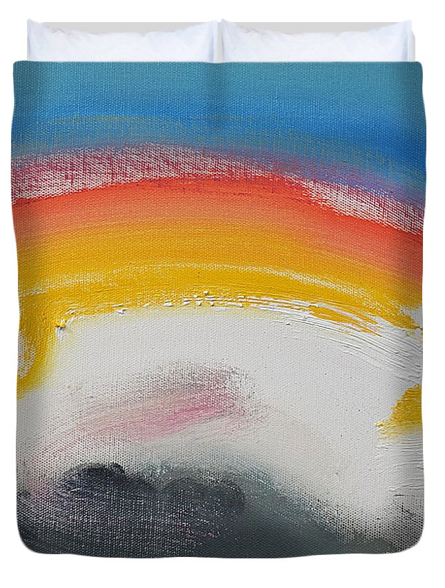 hip Hop Duvet Cover featuring the painting Fairground Attraction by Charles Stuart