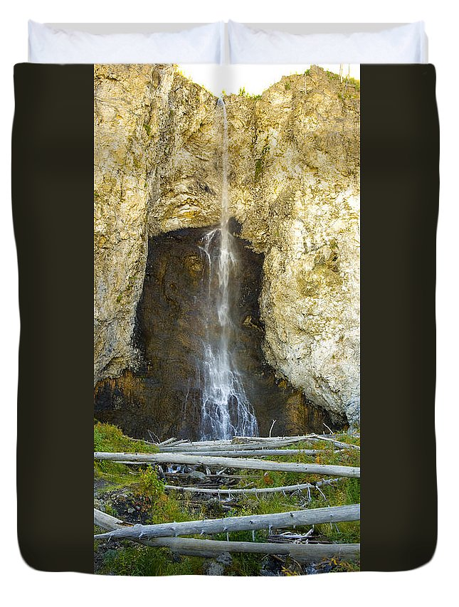 Landscape Duvet Cover featuring the photograph Fairy Falls by Crystal Heitzman Renskers
